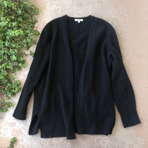 Madewell Black Open Front Duster Cardigan Sweater